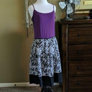 Talbots A line pleated silk blend skirt, 4p